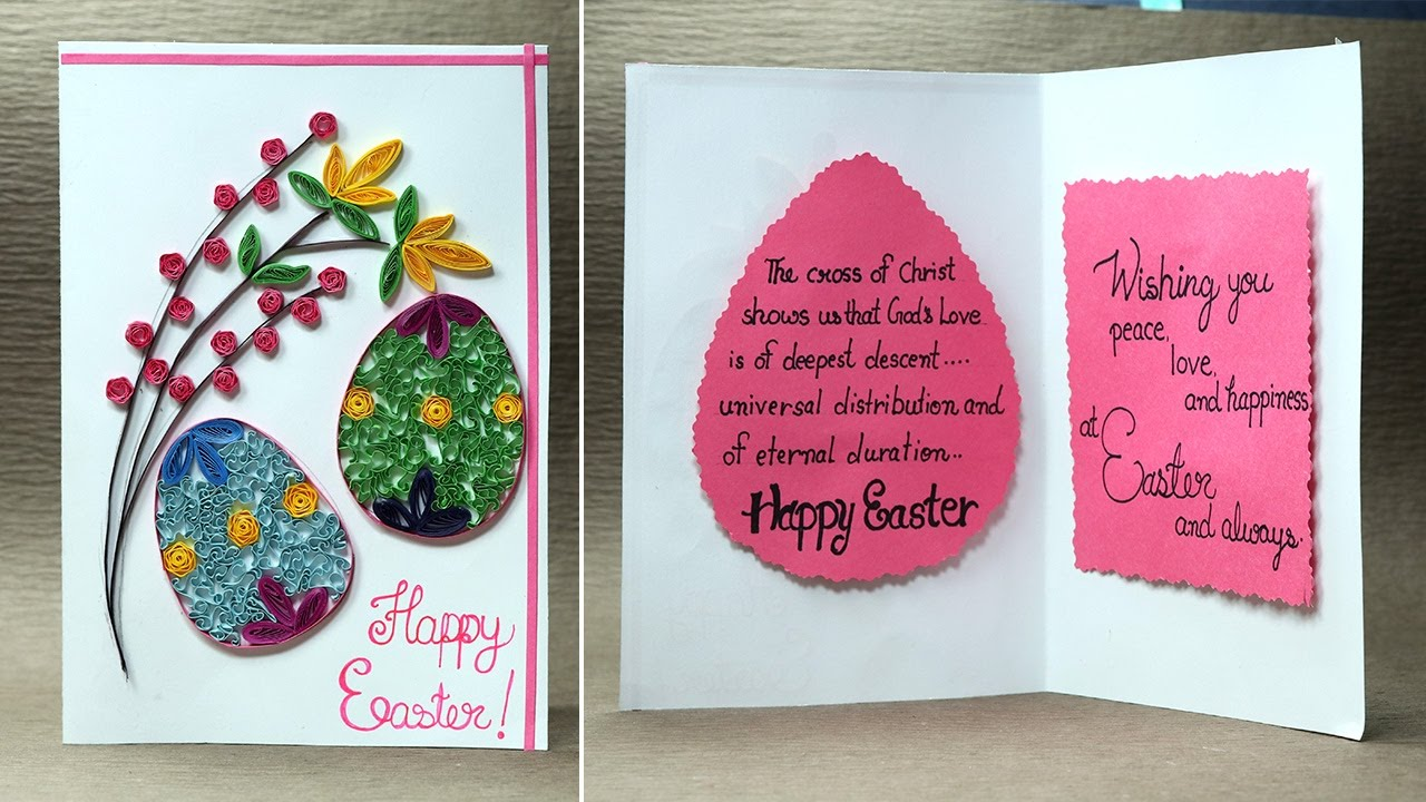 Easter Card How to Make Quilling Easter Egg Card YouTube – Easter Cards to Make