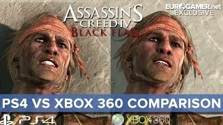 Assassin's Creed 4 - Xbox 360 vs PS4 Gameplay Comparison - Eurogamer