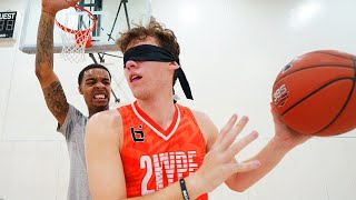 I Played Flight 1 vs 1 BLINDFOLDED... Basketball Challenge