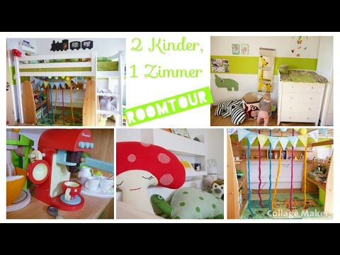 roomtour kinderzimmer geschwisterzimmer m dchen doovi. Black Bedroom Furniture Sets. Home Design Ideas