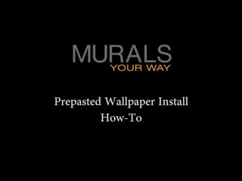 Prepasted Material Installation Youtube