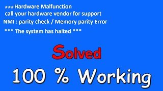 """""""The System Has Halted"""" [""""Problem Solution 2018""""]"""