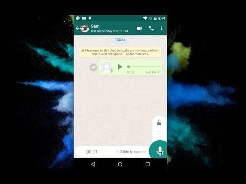 WhatsApp Easy Way to Record Long Voice Messages - New Update 2018