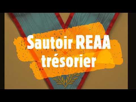 Sautoir REAA trésorier