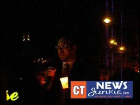 CTNJ-TV: Prayer Vigil Outside Lieberman's Stamford Home