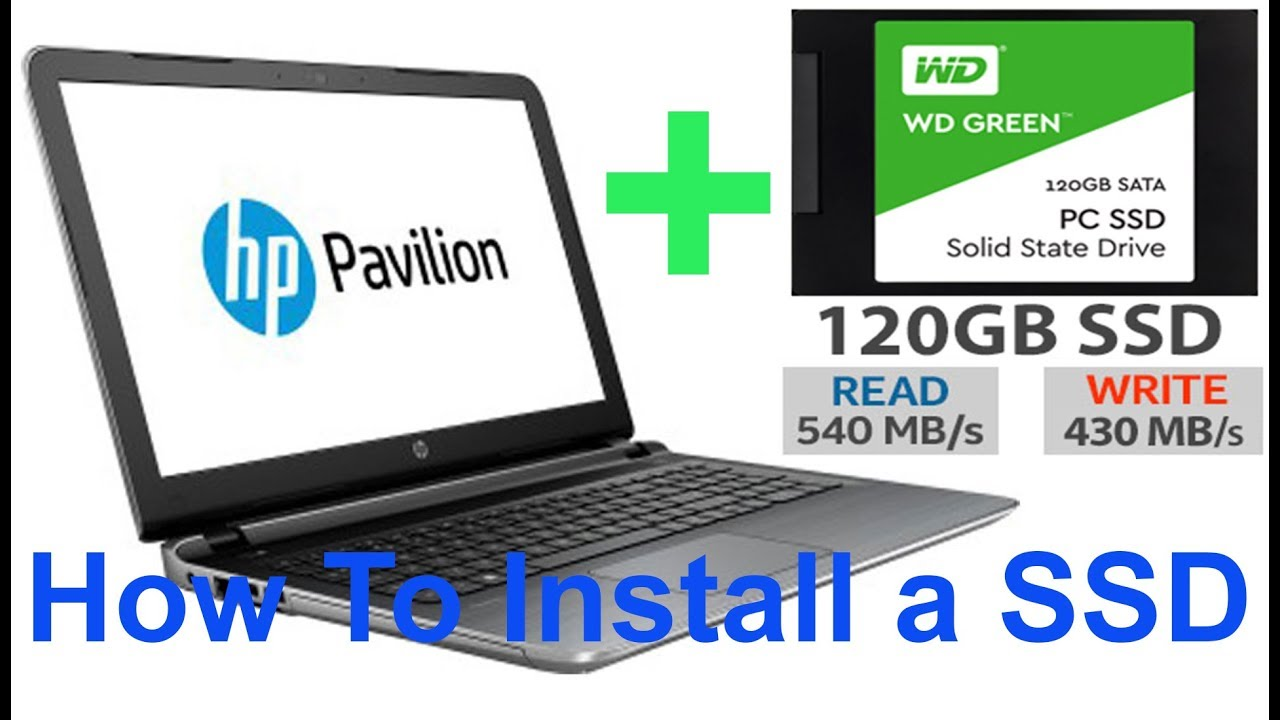 How To install a SSD on a Laptop (HP Pavilion 15-ab032TX)