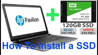 How To install a SSD + HDD on a Laptop (HP Pavilion 15-ab032TX)