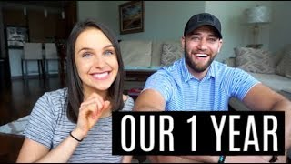1 YEAR DATING + SECRET VIDEO FROM THE DAY WE MET (embarrassing)