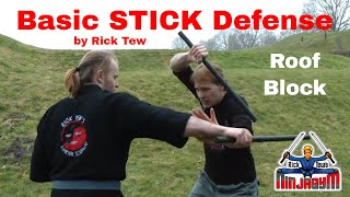 Stick fighting roof block street self defense.MTS
