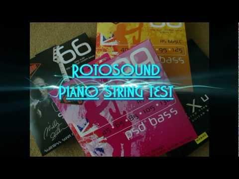 Rotosound bass piano string - music man bongo test