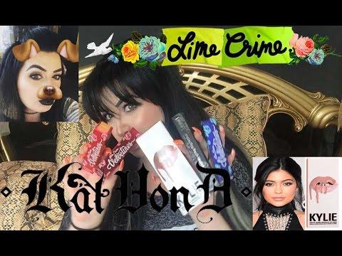 Нови придобивки - течни матови червила - Lime Crime , Kat Von D , Kylie Jenner Lip Kit