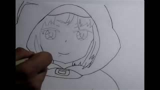 How to draw LLEN from Sword Art Online Alternative GGO