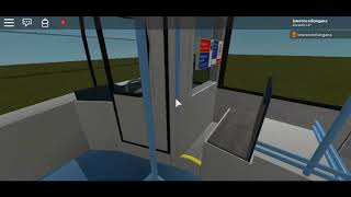 Roblox New Test on the Optare MetroCity Two Door Red Arrive North East