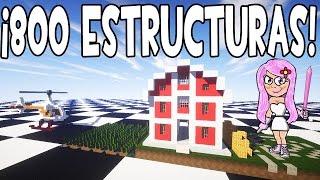 MOD DE ESTRUCTURAS Y CASAS INSTANTÁNEAS MINECRAFT 1.9/1.8/1.7.10 | MOD INSTANT STRUCTURES