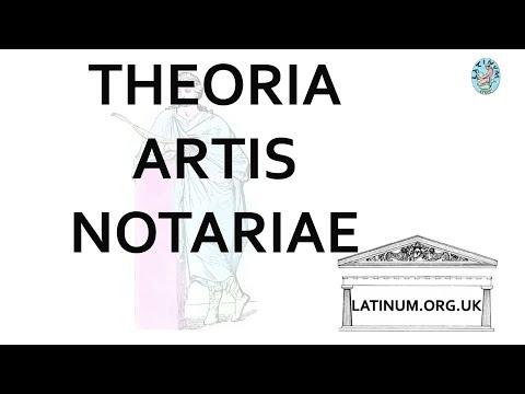 Latinum Latin Language Live Stream Theorica Artis  Notariae