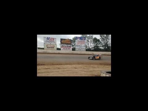 Race car wreck. Street stock ransomville speedway 2016 Zach george