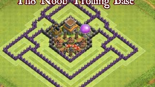 Clash of Clans | Town Hall 8 Noob Trolling Base Speed Build