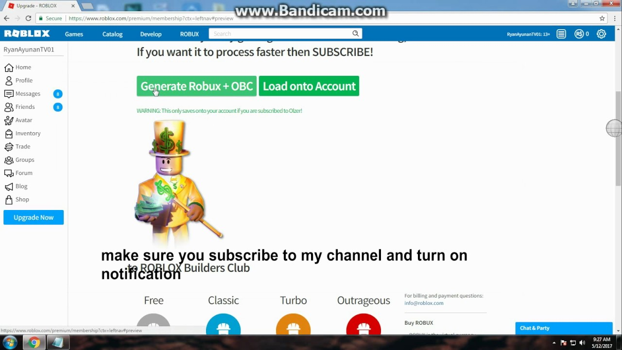How To Get Free Obc And Robux On Roblox New Method 2017 Works - how to get free obc in roblox 2018