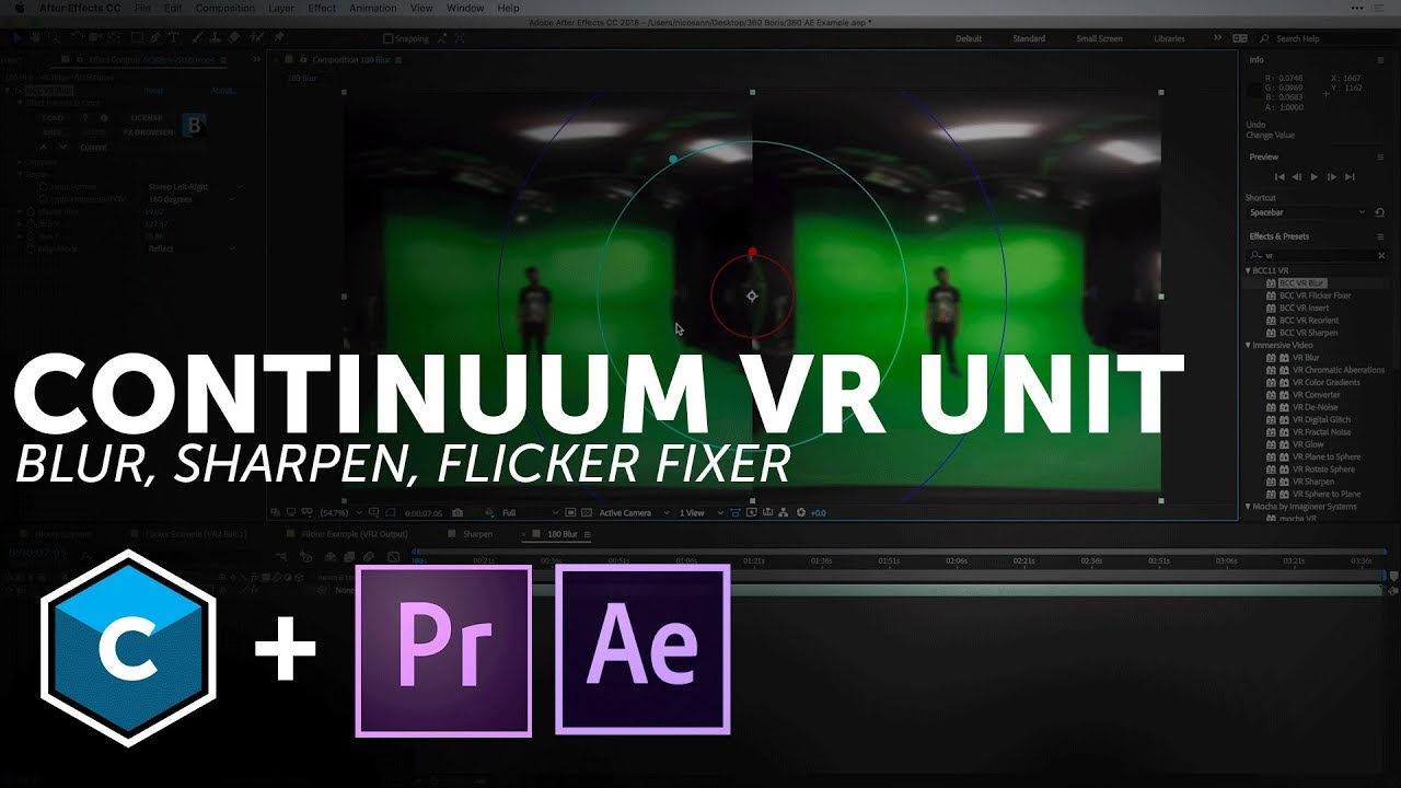 VR tools for Adobe Premiere and After Effects - Blur, Sharpen, and Flicker  Fixer
