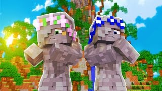 Little Kelly & Little Carly ARE TURNED INTO STATUES!!! - Minecraft Little Club Adventures