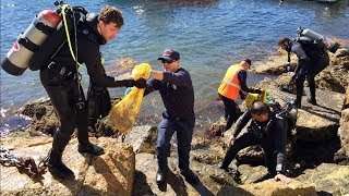 Divers Clean Catalina Waters