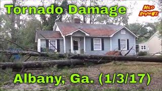 milo reviews tornado damage in albany ga 1 3 2017