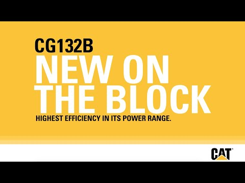 Efficiency at a New Level from Caterpillar | Cat® CG132B Gas Generator Set