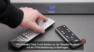 Canton Soundbar auch ohne HDMI Anschluss mit TV Fernbedienung bedienen