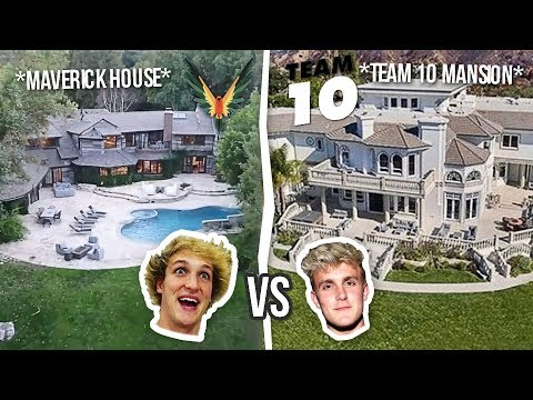 Thumbnail: Maverick House vs Team 10 Mansion ( Logan vs Jake ) **House Battle**