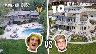 Maverick House vs Team 10 Mansion ( Logan vs Jake ) **House Battle**