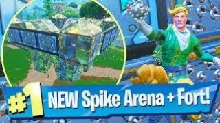 *FORTNITE* Port-a-Fortress/Spiky Stadium Gameplay first look reveal