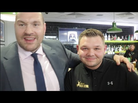WHEN TYSON FURY MET JOSEPH PARKER TRAINER KEVIN BARRY *  & HIS SON - (EXCLUSIVE FOOTAGE)