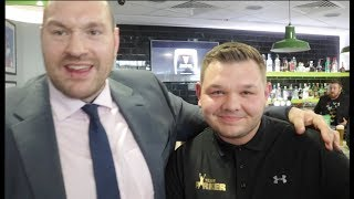 WHEN TYSON FURY MET JOSEPH PARKER TRAINER KEVIN BERRY *  & HIS SON - (EXCLUSIVE FOOTAGE)