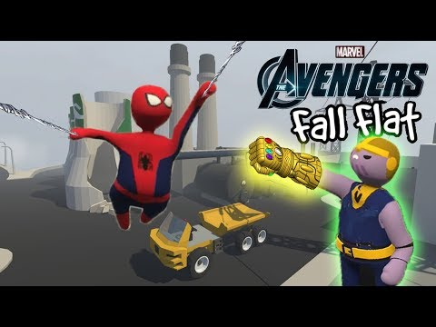 SPIDERMAN VS THANOS - Human Fall Flat Funny Game Hindi
