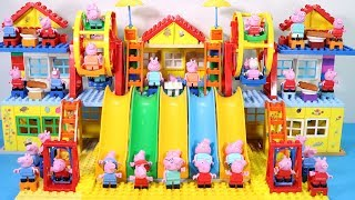 Peppa Pig Lego House Creations With Water Slide Toys For Kids #17