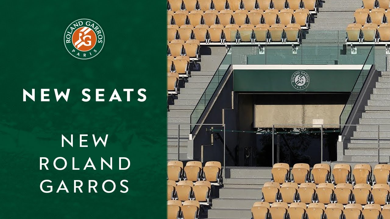 New seats for Suzanne Lenglen Court | New Roland Garros