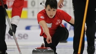 CURLING: World Junior Chps 2013 - Women Draw 4 DEN-JPN