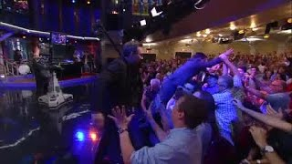 Congressman John Lewis crowd surfs after Colbert interview