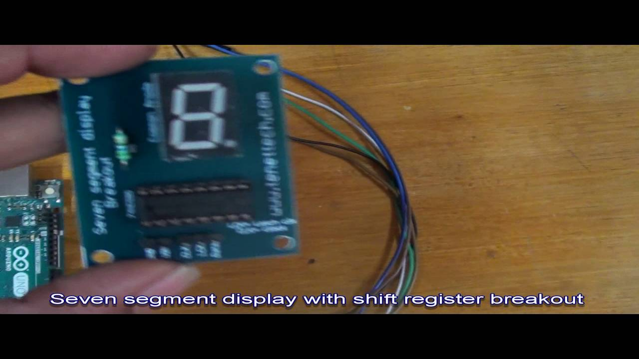 Seven Segment With 1 Shift Register Breakout Board Youtube Electrical Wiring Registration