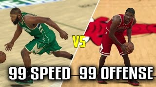 TEAM W/ 99 SPEED VS TEAM W/ 99 OFFENSE! WHO WILL WIN? NBA 2K17 GAMEPLAY!