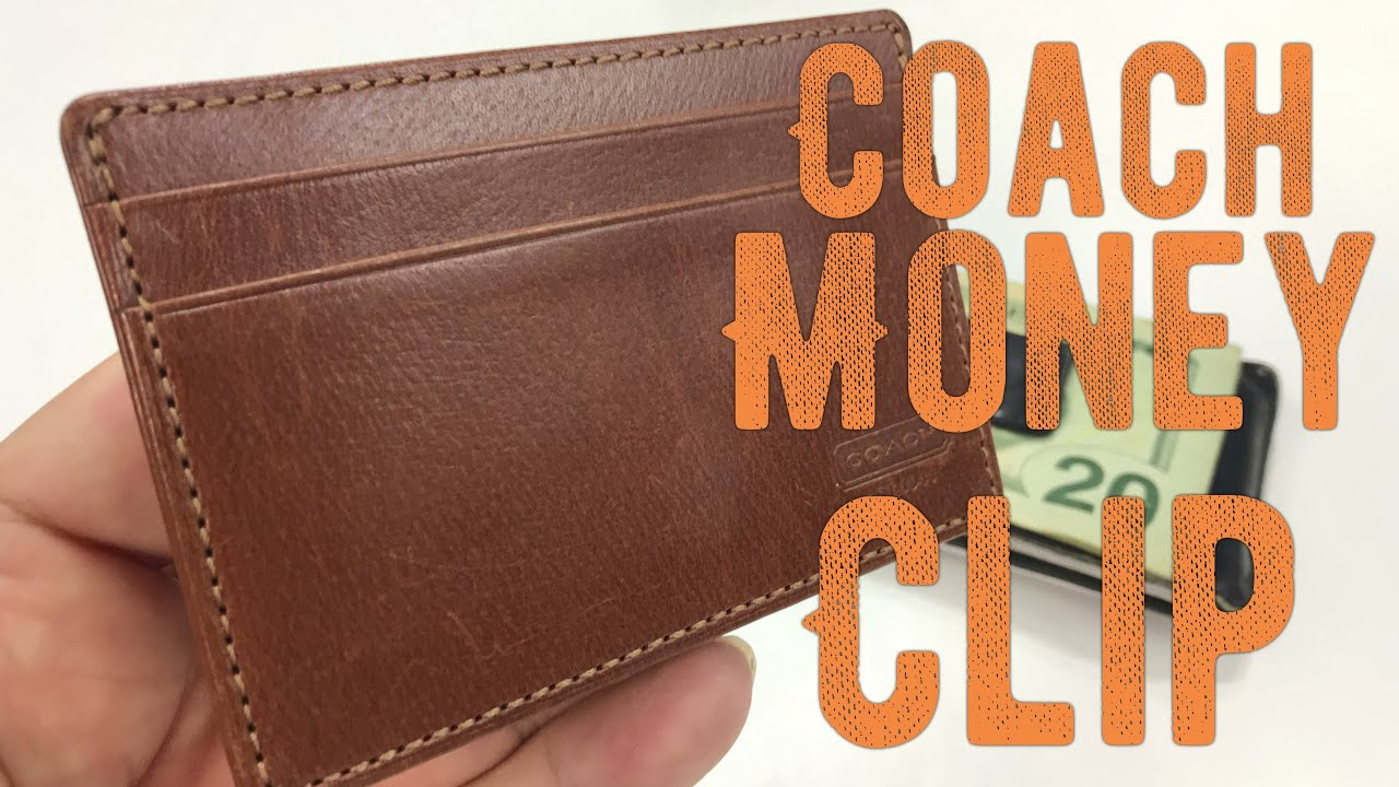 Coach Leather Money Clip Card Case Wallet Review - YouTube