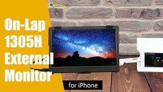 GeChic How to Mirror iPhone to the 13.3-inch 1305H External Monitor
