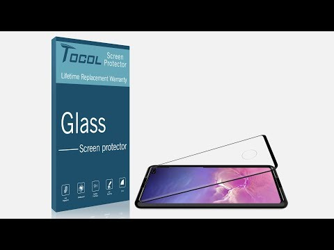 TOCOL Samsung Galaxy S10 & S10 Plus Glass Screen Protector Installation Vedio