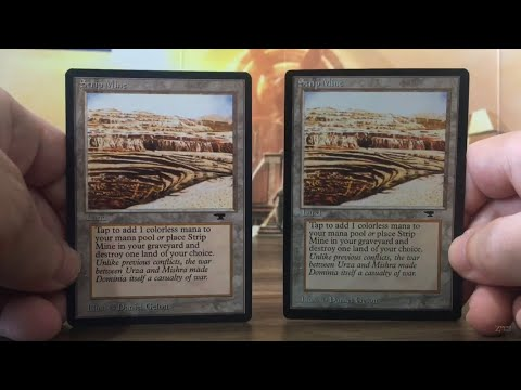 Real Strip Mine - Fake Proxy Comparison Antiquities MTG