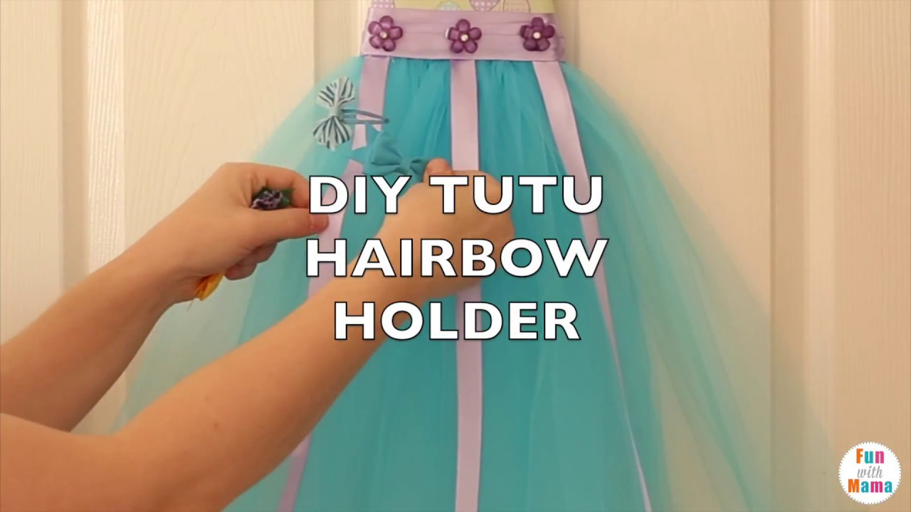 How To Make A Tutu Hair Bow Holder Diy Bow Organizer Youtube