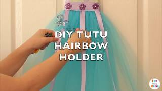 How To Make A Tutu Hair Bow Holder Diy bow organizer