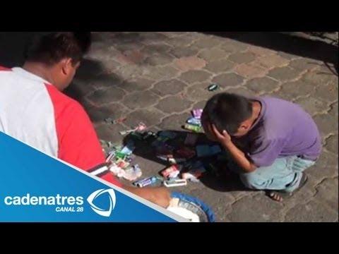 Funcionario humilla a niño vendedor (VIDEO)