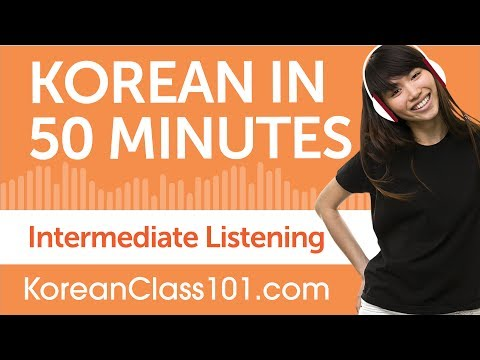 50 Minutes of Intermediate Korean Listening Comprehension