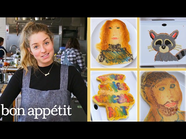 Pro Chef Tries Pancake Art for the First Time | Bon Appétit