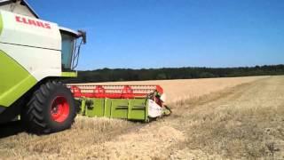 A Ukrainian agronomist showing his equipment operating skills